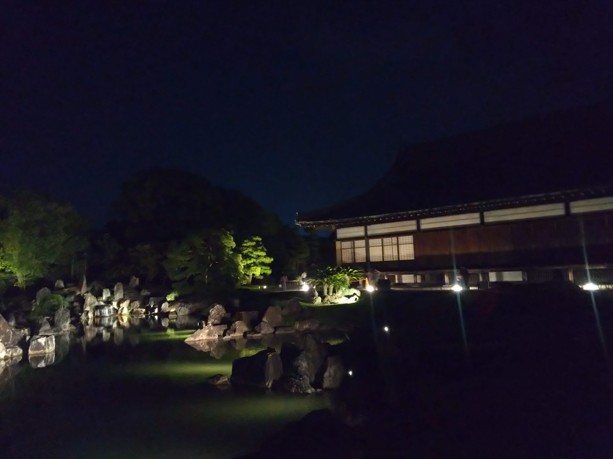 夜の二の丸庭園