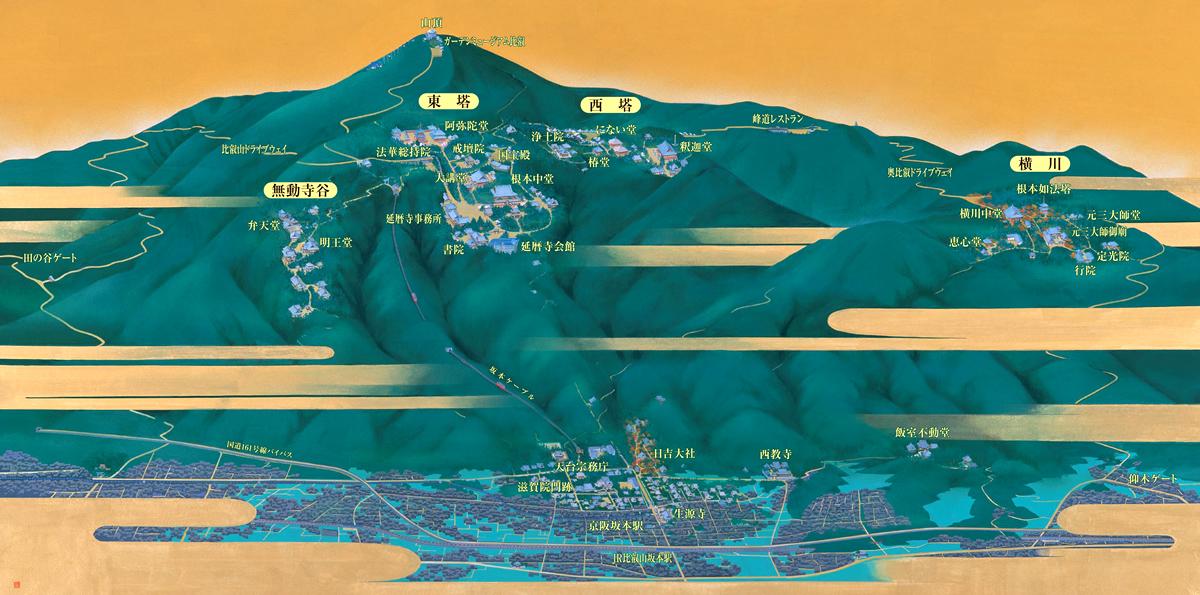 比叡山 地図