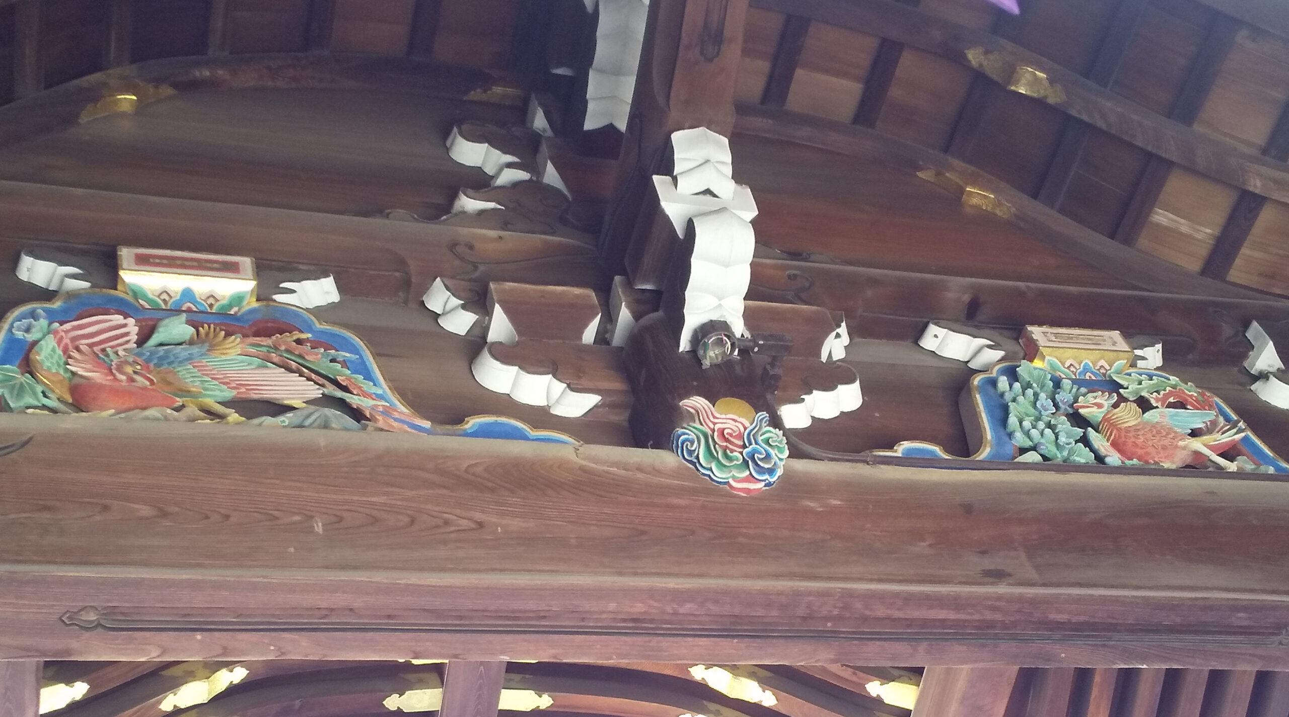 北野天満宮 三光門 彫刻2