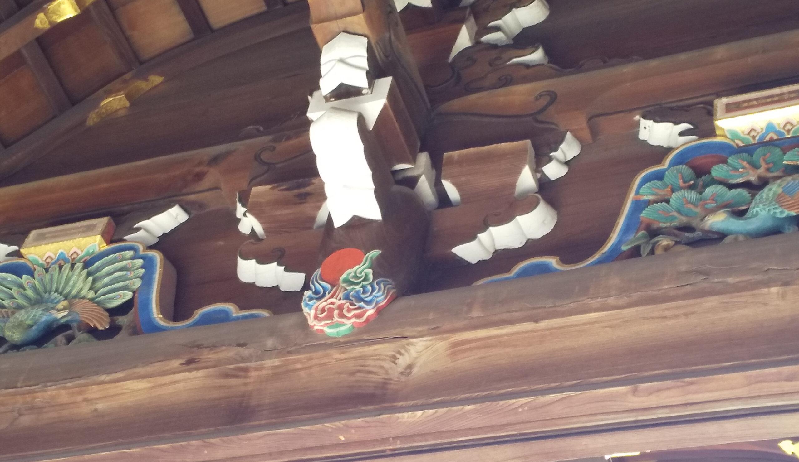 北野天満宮 三光門 彫刻1